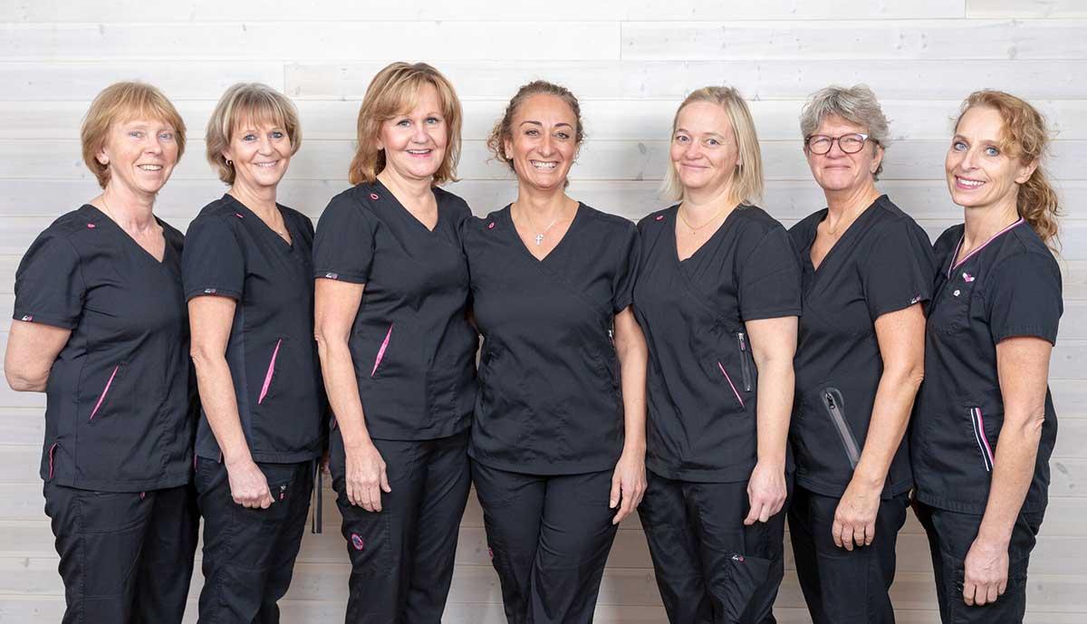 gruppbild på våra tandsköterskor