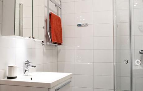 toalett i vår lägenhet för övernattning